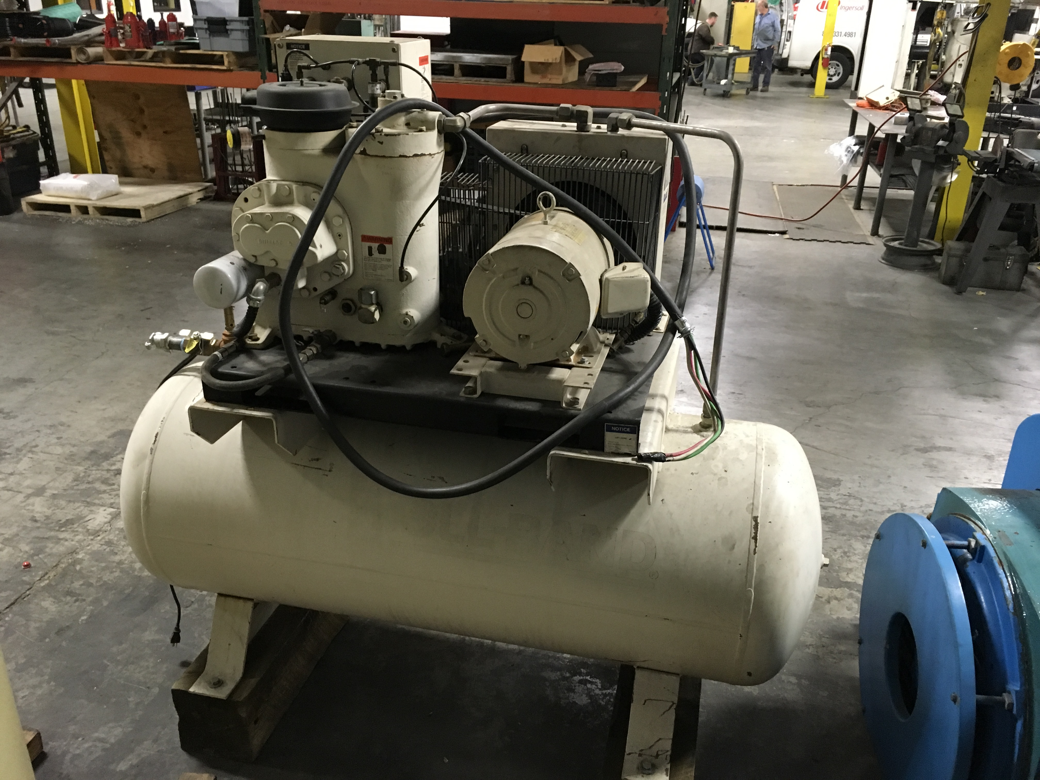 IR U15HSP Air Compressor Tank Mtd