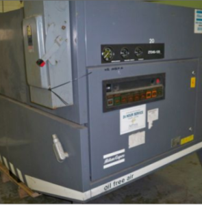 1991 Atlas Copco ZT245-125 Oil Free Rotary Screw Air Compressor