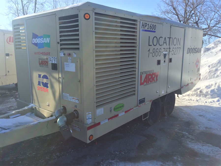 2012 Doosan HP1600WCUIQ Diesel Air Compressor